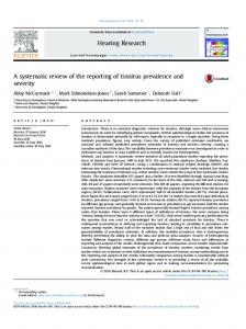 A systematic review of the reporting of tinnitus ... - Semantic Scholar