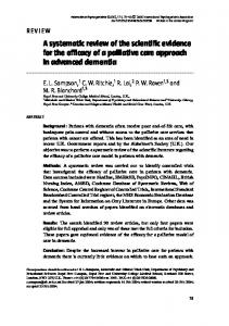 A systematic review of the scientific evidence for the ...