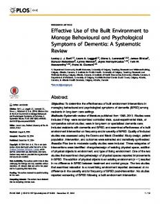 A Systematic Review - Plos
