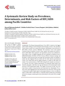A Systematic Review Study on Prevalence, Determinants, and Risk ...