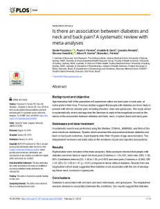A systematic review with meta-analyses - PLOS
