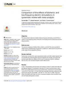 A systematic review with meta-analysis - PLOS
