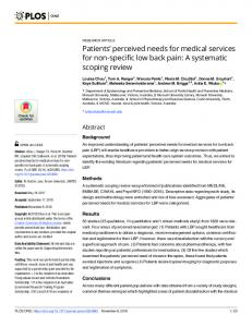 A systematic scoping review - Plos