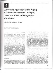 A Systems Approach to the Aging Brain