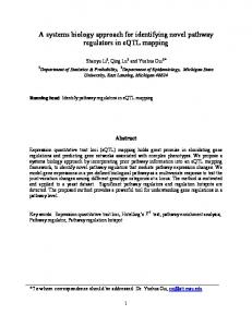 A systems biology approach for identifying novel pathway regulators in ...