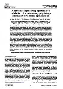 A systems engineering approach to validation of a ... - Semantic Scholar