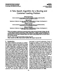 A Tabu Search Algorithm for a Routing and Container ... - CiteSeerX