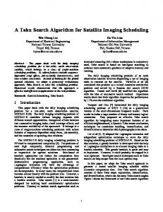 A Tabu Search Algorithm for Satellite Imaging Scheduling - CiteSeerX