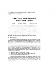 A Tabu Search Based Algorithm for Cargo Loading Problem - APORC