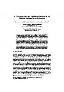 A Tabu Search Heuristic Based on k-Diamonds for the ... - ePrints Soton