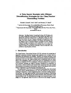 A Tabu Search Heuristic with Efficient Diversification Strategies for the ...