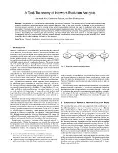 A Task Taxonomy of Network Evolution Analysis - UMD Department of ...