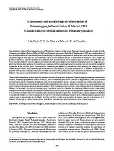 A taxonomic and morphological redescription of ... - SciELO