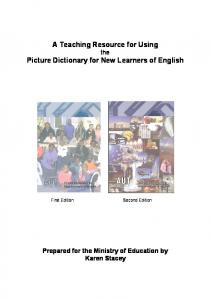 A teaching Resource for Using the Picture Dictionary for New ...