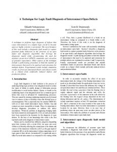 A Technique for Logic Fault Diagnosis of ... - Semantic Scholar
