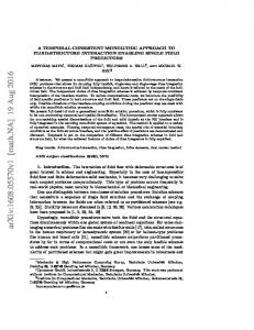A Temporal Consistent Monolithic Approach to Fluid-Structure ...
