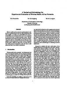A Testbed and Methodology for Experimental ... - Semantic Scholar