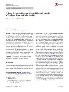 A Tetra-Orthogonal Strategy for the Efficient Synthesis ... - Springer Link