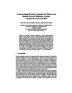 A Textual-Based Similarity Approach for Efficient and Scalable ...