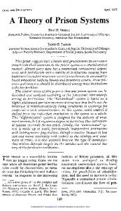 A Theor of Prison System's - SAGE Journals - Sage Publications