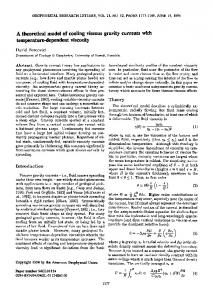 A Theoretical Model of Cooling Viscous Gravity