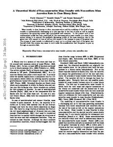 A Theoretical Model of Non-conservative Mass Transfer with Non ...