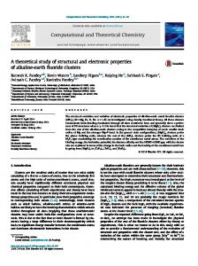 A theoretical study of structural and electronic properties of ... - Physics
