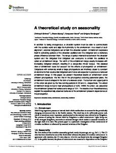 A theoretical study on seasonality - Semantic Scholar