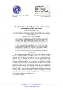 A theoretical study on the mechanism of the reaction between
