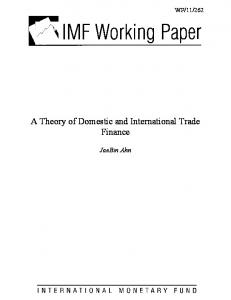 A Theory of Domestic and International Trade Finance - SSRN papers