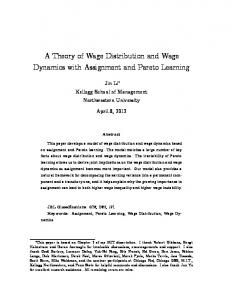 A Theory of Wage Distribution and Wage Dynamics ...