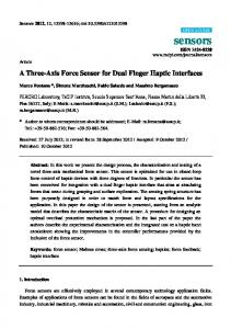 A Three-Axis Force Sensor for Dual Finger Haptic ... - BioMedSearch