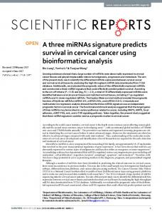 A three miRNAs signature predicts survival in cervical cancer using ...