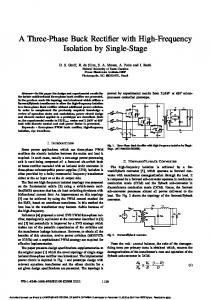 A Three-Phase Buck Rectifier with High-Frequency ... - Ivo Barbi