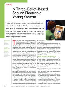 A ThreeiBallotiBased Secure Electronic Voting System