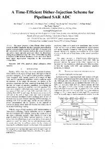 A Time-Efficient Dither-Injection Scheme for Pipelined ... - IEEE Xplore
