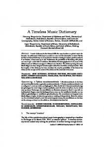 A Timeless Music Dictionary