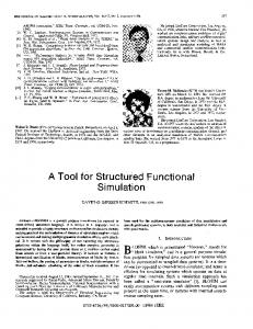 A Tool for Structured Functional Simulation - EECS at UC Berkeley
