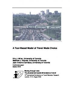 A Tour-Based Model of Travel Mode Choice - CiteSeerX