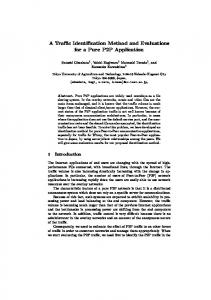A Traffic Identification Method and Evaluations for a Pure P2P ...