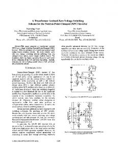 A Transformer Assisted Zero Voltage Switching Scheme For ... - Ivo Barbi