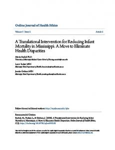 A Translational Intervention for Reducing Infant Mortality in Mississippi ...