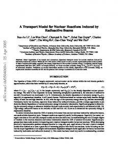 A Transport Model for Nuclear Reactions Induced by Radioactive Beams
