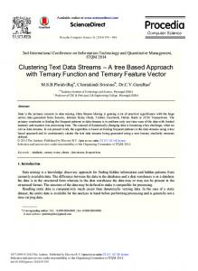 A Tree based Approach with Ternary Function and Ternary Feature ...