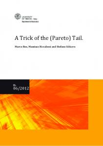 A Trick of the (Pareto) Tail. - UniTN