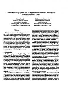 A Trust Brokering System and Its Application to ... - Semantic Scholar