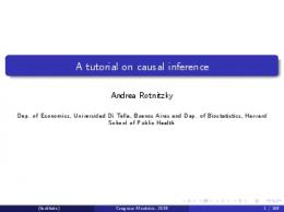 A tutorial on causal inference