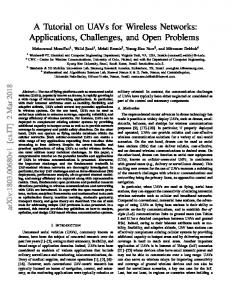 A Tutorial on UAVs for Wireless Networks: Applications ... - arXiv