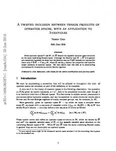 A twisted inclusion between tensor products of operator spaces, with ...