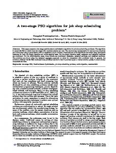 A two-stage PSO algorithm for job shop scheduling ...